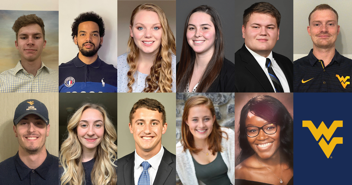 (Top row pictured from left to right) Dawson Apple, El Hacen Saleh, Emily Carroll, Gabriela Kosakowski, Jared Broyles and Brian Welsh.  (Bottom row pictured from left to right) Jared Morse, Mackenzie Stone, Maxwell Schafer, Megan Sibley and Miky Alves.
