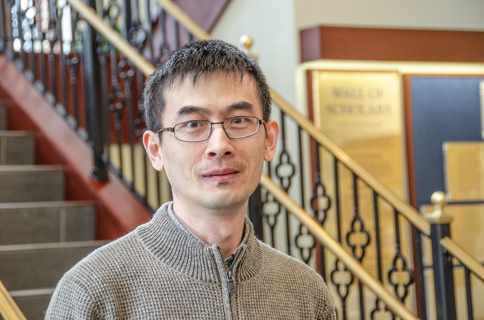 Research led by Xin Li, of the WVU Lane Department of Computer Science and Electrical Engineering, will aim to make identifying autism easier via artificial intelligence.(WVU Photo/Paige Nesbit)
