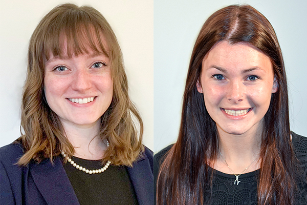 Jackie Arnold and Abigail Jones are WVU's 2021 Beckman Scholars.(WVU Photo)