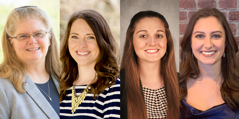 Recipients of the 2021 Excellence in Diversity, Equity and Inclusion Awards: <em>(pictured from left to right)</em> Robin Hensel, Cate Schlobohm, Savannah Hays and Lydia Knutsen.
