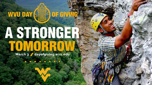 WVU Day of Giving - A stronger tomorrow - March 3 - dayofgiving.wvu.edu